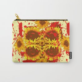 CAUTION: DANGEROUS SUNFLOWERS YELLOW-RED ART Carry-All Pouch