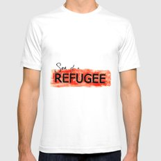Son of a REFUGEE Mens Fitted Tee White SMALL