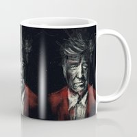 lynch Mugs featuring David Lynch by Rafal Rola