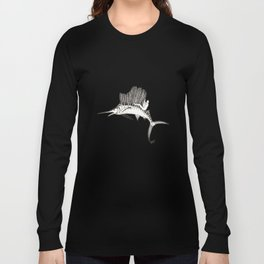 Surfing the fish Long Sleeve T-shirt