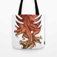dragons Tote Bags featuring Dragons by sandara