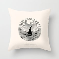 IN THE WAVES OF CHANGE WE FIND OUR TRUE DIRECTION Throw Pillow