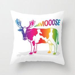 Mmmoooose Throw Pillow