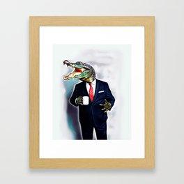 Business Croc Framed Art Print