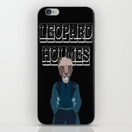 Leopard Holmes iPhone Skin