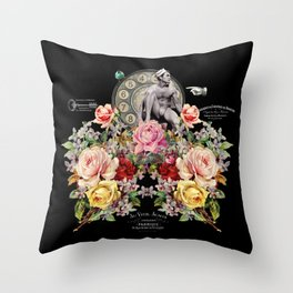 Nuit des Roses Revisited for Him Throw Pillow