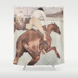 """Henri de Toulouse-Lautrec """"Le Jockey"""" Shower Curtain"""