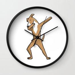 Funny Dabbing Greyhound Dog Dab Dance Wall Clock