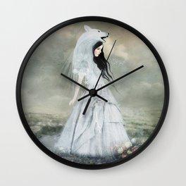 sympathy of wolves Wall Clock