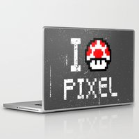pixel Laptop & iPad Skins featuring Pixel by eARTh