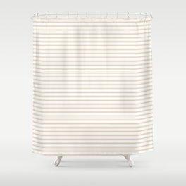 Almond Baby Camel Mattress Ticking Narrow Striped Pattern - Fall Fashion 2018 Shower Curtain
