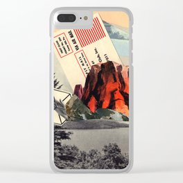 Mt. Red Clear iPhone Case