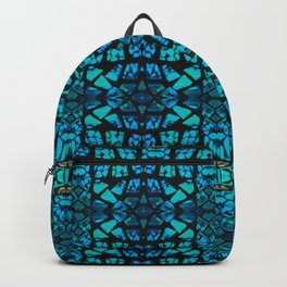 Blue Tile Pattern Backpack