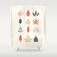 leaves Shower Curtains featuring Leaves by Tracie Andrews