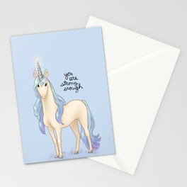 """You Are Strong Enough"" Unicorn Stationery Cards"