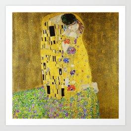 The Kiss, Gustav Klimt Art Print