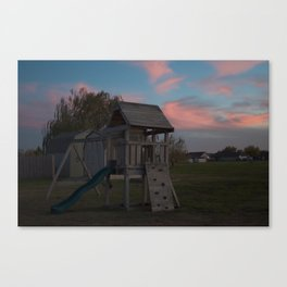 it's time for the sun to set 2 Canvas Print