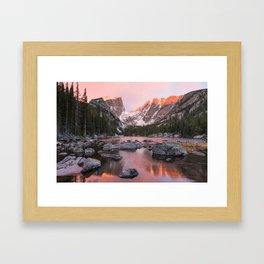 Dream Lake Sunrise Framed Art Print
