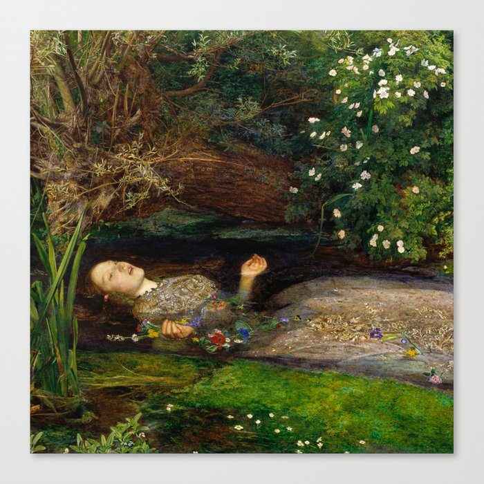 Ophelia - John Everett Millais Leinwanddruck