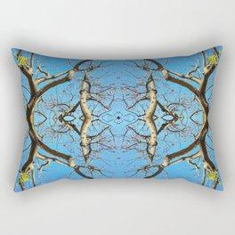 Dancing Branches Mandala-esque (#129a) Rectangular Pillow