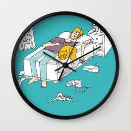 Why should I make my bed again Wall Clock