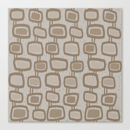 Dangling Rectangles in Brown Canvas Print