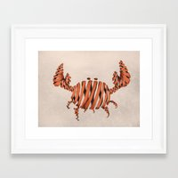 crab Framed Art Prints featuring Crab by Claire.H