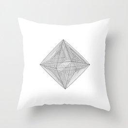 DMT OCTAHEDRON Throw Pillow
