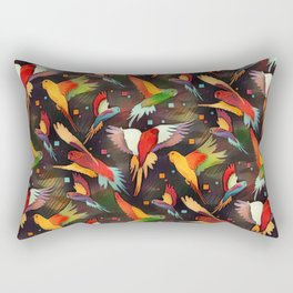 Fluttering Wings of Color Rectangular Pillow