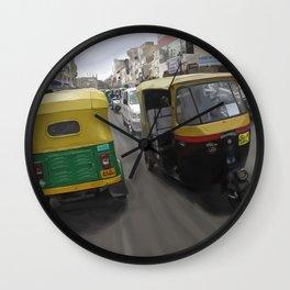 Rickshaws in Bangalore Wall Clock