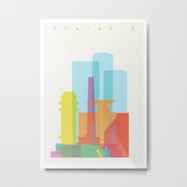 Shapes of Tel Aviv Metal Print