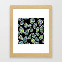 Cosmic Crystals Framed Art Print