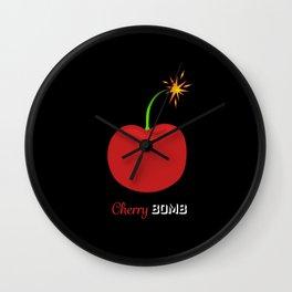 Cherry Bomb reversed Wall Clock