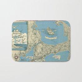 Vintage Map of Cape Cod (1945)  Bath Mat
