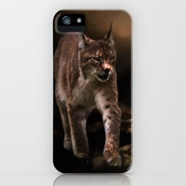Into The Light - Lynx Art iPhone Case