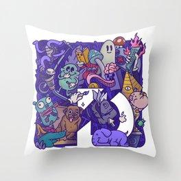 Acid Game Throw Pillow