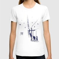ski T-shirts featuring Ski lift by Grilldress