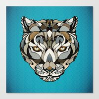 leopard Canvas Prints featuring Leopard by Andreas Preis