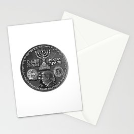 Trump Israel 70th Anniversary Temple Coin Art (Front Side) Stationery Cards