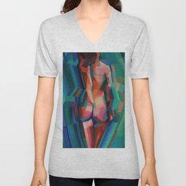 Cubistic Nude 02 (2013) Unisex V-Neck