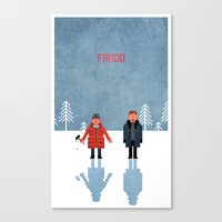 fargo Canvas Prints featuring Fargo by laurxy