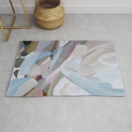 Abstract painting (Sunlit Coral) Rug