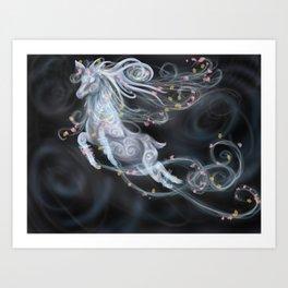 Air elemental stag Art Print