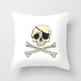 Skull Crossbones Throw Pillow
