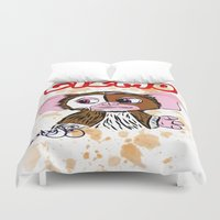 gizmo Duvet Covers featuring GIZMO - GREMLINS ILLUSTRATION  by Jonboistars