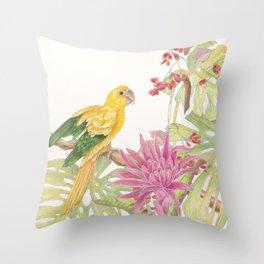 My Favorite Perch Throw Pillow