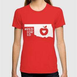 Red for Ed Oklahoma teachers T-shirt