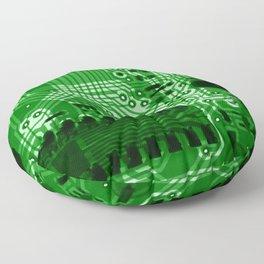 Green Motherboard Geek Decor Floor Pillow