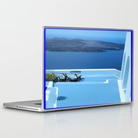 greek Laptop & iPad Skins featuring Greek Holiday by Brian Raggatt
