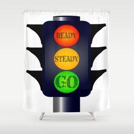 Ready Steady Go Traffic Lights Shower Curtain